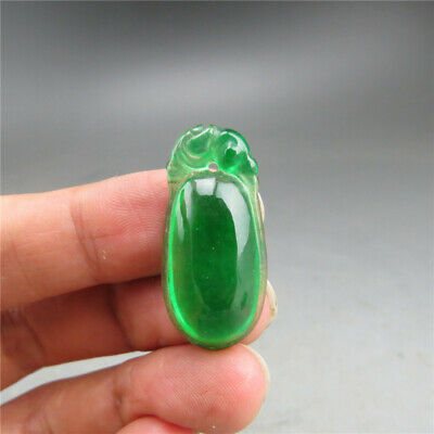 China, jade, pure manual carving, Jadeite jade ,Drops of water, pendant A530