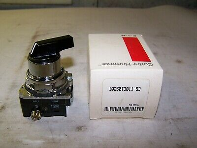 New Cutler Hammer / Eaton 2 Position Selector Switch 10250T3011-53