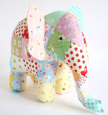 TRUNK SHOW - Sewing Craft PATTERN - Cloth Rag Doll Elephant Pattern