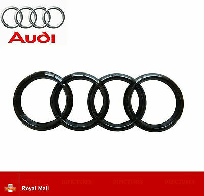 Audi Gloss Black Front Grille Bonnet Badge Rings A1 A3 A4 A5 A6 S3 RS3 273mm