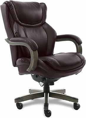 LaZBoy Big & Tall Executive Chair with Coffee Bonded Leather, Coffee Brown