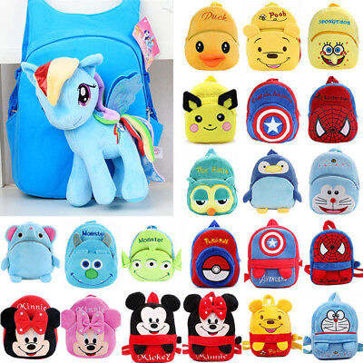 Boys Girls Spiderman Mickey Mouse Cute Cartoon Backpack Schoolbag Rucksack Bags