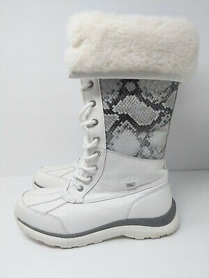 8feafbef8 UGG ADIRONDACK TALL Leather & Shearling Winter Boots