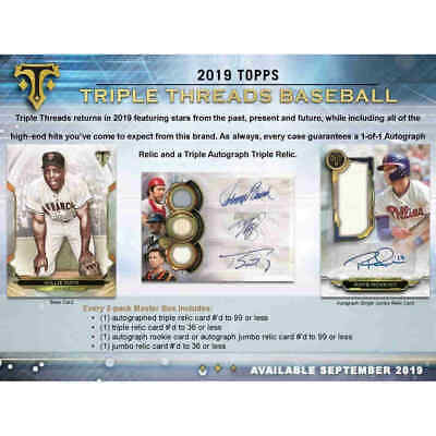 2019  Topps Triple Threads Sealed Hobby Box Presell 9/18