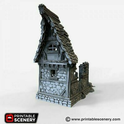 SMALL COTTAGE 28MM Tabletop Games Dwarven Forge D&D Terrain