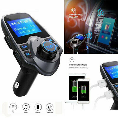 Car Bluetooth Charger Set Adjustable Hands Free Wireless AUX Audio Receiver USB