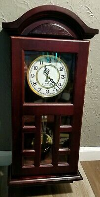 D & A Westminster Chime Quartz Wall Cabinet Clock With Side