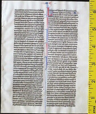 Early ca.1250 Bible manuscript leaf in Latin on very fine vellum,Numbers 9-10