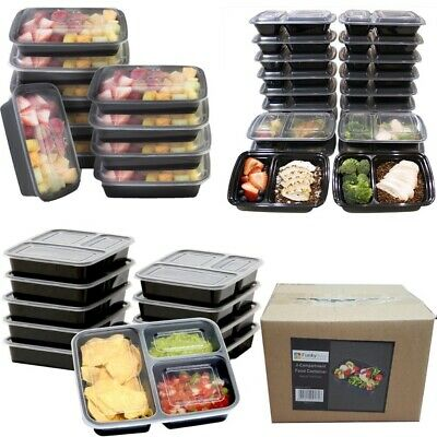Meal Prep Food Salad Containers Microwavable BPA Free Plastic Lunch Box AU Post