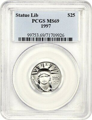 1997 Platinum Eagle $25 PCGS MS69 - Statue Liberty 1/4 oz