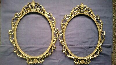 Vintage Large Ornate Brass Frame Pair Made Italy No Glass 40cm LARGE for Craft
