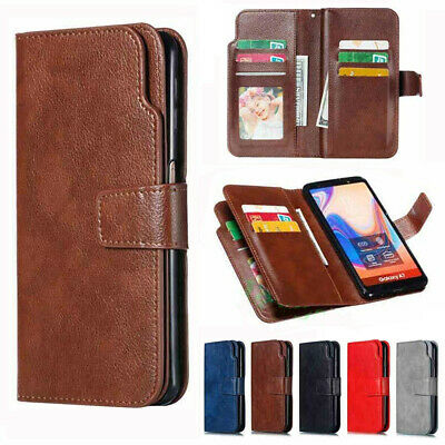Fr Samsung Galaxy A20e A40 A10 A70 Magnetic Flip Leather Case Wallet Stand Cover