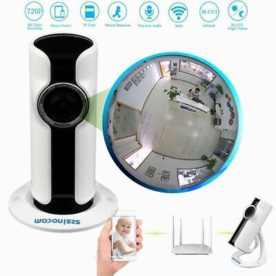 Mini HD 720P/960P/1080P P2P Wireless IR WIFI IP Camera Panoramic Fisheye Lens US