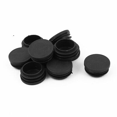Floor Furniture Chair Desk Protector 0.51-0.6 Inner Dia uxcell 5//8 16mm OD Plastic Round Tube Ribbed Inserts End Cover Caps 18pcs