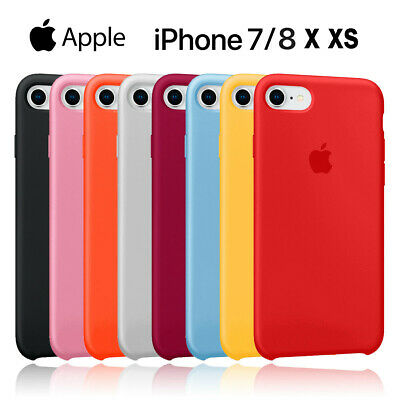 Original Coque Silicone Case Apple iPhone X XR XS MAX 8 6 7 Plus Etui Coffret