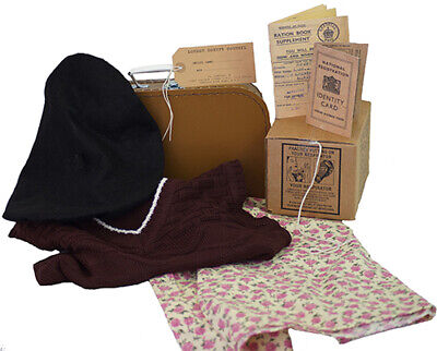 Wartime Memorabilia 1940's COMPLETE Tank Top-Suitcase-Skirt Gas Mask Box & Acc.