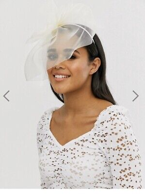 ASOS Cream Facinator / Ivory Headpiece / Statement Bow