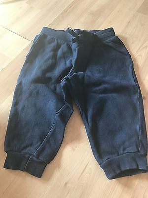 Girls, H & M,  9-12 Months, Eur 80 Cm,  Navy Blue Tracksuit Bottoms, Pre-Loved