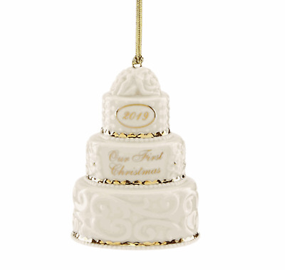 Lenox 2019 Our First Christmas Together Cake Ornament