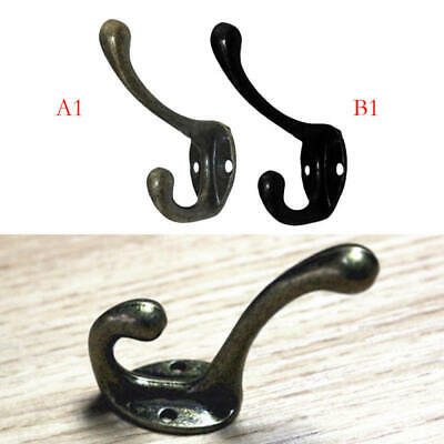 10PCS Double Coat Wall Hook Zinc Hanger Classic Antique Industrial Cast Iron