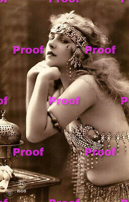 VINTAGE Hollywood Starlet SHOW GIRL BELLY Dancer Photo Photograph REPRINT 5