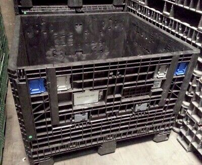 Pallet Box Storage Container Automotive Bin Collapsible Ropak Ornis Mixed Colors