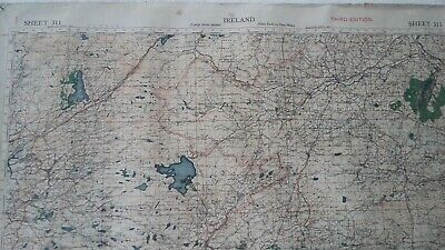 Antique Map Ireland Tyrone Donegal Fermanagh Lough Derg WWII War Office 1940