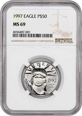 1997 Platinum Eagle NGC MS69 - Statue Liberty 1/2 oz