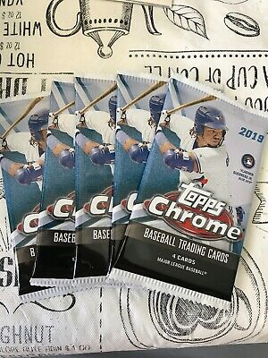 (5) Pack Lot 2019 Topps Chrome Baseball!