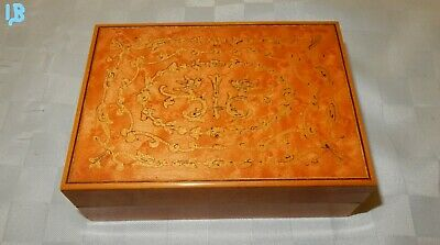 Vintage Italian Sorrento Ware Trinket Box Cigarette Box (1b)
