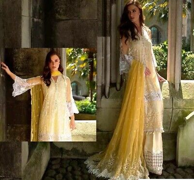 New Original Sobia Nazir Chiffon Embroidered Eid Collection Suit