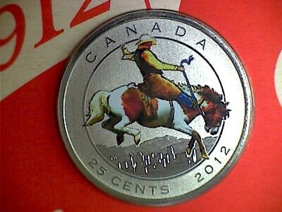 2012 Canada 25 cent Calgary Stampede coin & stamp Centennial - complete, sealed