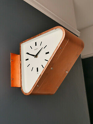Vintage Seiko Double Sided Ship's Clock - Copper Leaf - Art Deco style