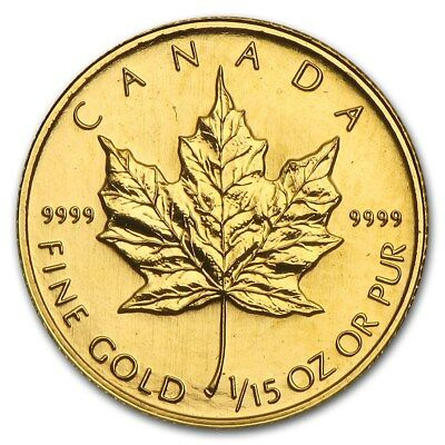 1994 CANADA $2 1/15oz 24k Pure GOLD Maple Leaf Coin RARE Only 3450 Minted