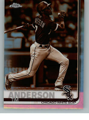 2019 Topps Chrome Retail Sepia Refractor 186 Tim Anderson - White Sox