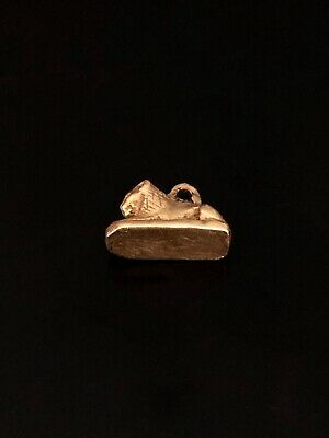 Solid Gold Extremely Rare Ancient Hellenistic Lion Amulet