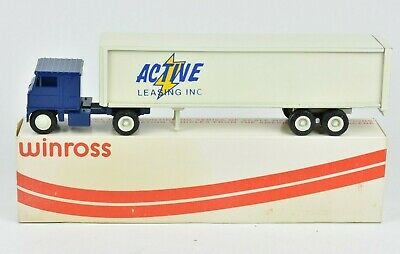 1972 Winross Active Leasing Inc Truck and Trailer 1:64 NIB