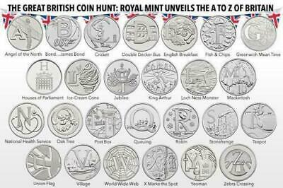 2018 Uncirculated 10p Alphabet A-Z Coins - Pick Choose the Letters you want