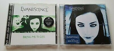 EVANESCENCE fallen CD ALBUM + bring me to life CD SINGLE - ROCK / NEAR MINT