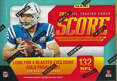 2019 Panini SCORE Football NFL Cards 132c Retail BLASTER Box - Mem Card/Gold PC