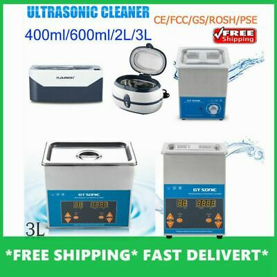 600ml/2L/3L Multi Purpose Ultrasonic Cleaner Sonic Tank Cleaning Timer Heater