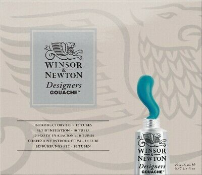 Winsor and Newton Designers Gouache Introductory Set of 10