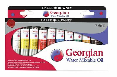 Daler-Rowney Georgian Watermixable Oil Introduction Set 10x20ml