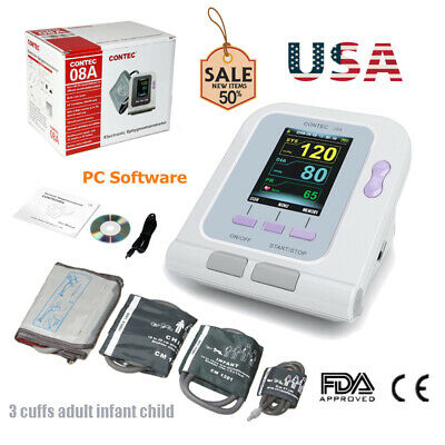 FDA Automatic Blood Pressure Monitor Adult+Neonate+Infant+Child Cuffs,Limited