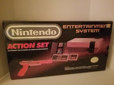 NES Nintendo Entertainment System Action Set Complete In Box With 100 Games LQQK