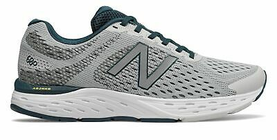 New Balance Men's 680v6 Shoes Grey with Green