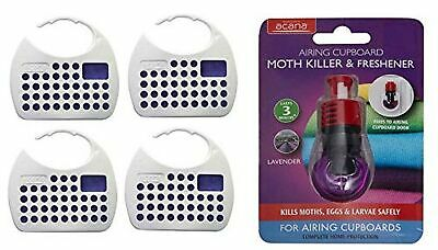 Acana Hanging Moth Killer and Lavender Freshener with Airing Cupboard Moth Ki...