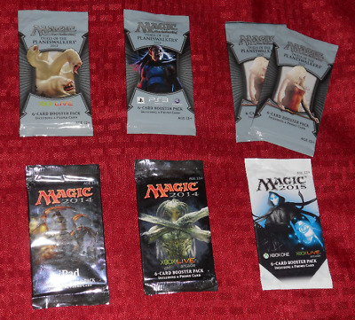 7x Duels of the Planeswalkers Promo Booster Pack Lot - MTG Magic the Gathering