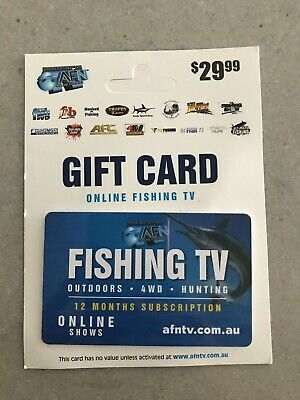Online Fishing TV Gift Card 12 Months Subscription Valued @ $29.99
