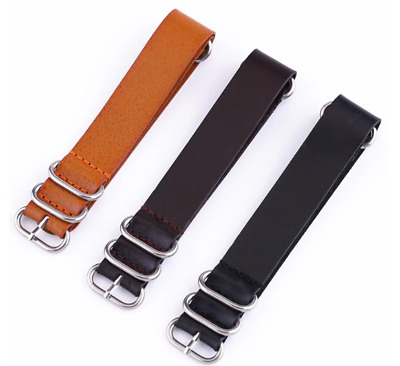 Leather Watch Strap Military Style NATO G10 UK